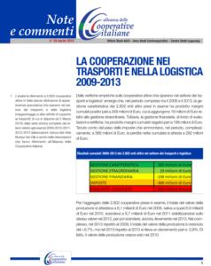 N.29 – La cooperazione nei trasporti e nella logistica 2009 -2013 – Aprile 2015