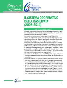 Il SISTEMA COOPERATIVO DELLA BASILICATA (2008 – 2014)
