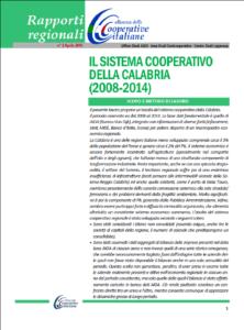 Il sistema cooperativo della Calabria (2008-2014)