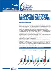 N.1 LA CAPITALIZZAZIONE NEGLI ANNI DELLA CRISI (I) – GIUGNO 2013
