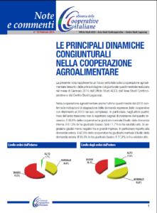 N.10 LE PRINCIPALI DINAMICHE CONGIUNTURALI NELLA COOPERAZIONE AGROALIMENTARE – FEBBRAIO 2014