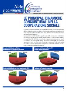 N.11 LE PRINCIPALI DINAMICHE CONGIUNTURALI NELLA COOPERAZIONE SOCIALE – MARZO 2014