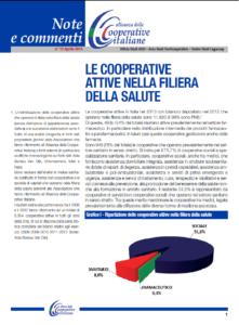 N.12 LE COOPERATIVE ATTIVE NELLA FILIERA DELLA SALUTE – APRILE 2014