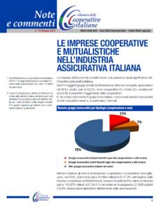 N.16 LE IMPRESE COOPERATIVE E MUTUALISTICHE NELL'INDUSTRIA ASSICURATIVA ITALIANA – MAGGIO 2014