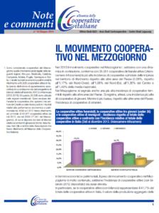N.18 IL MOVIMENTO COOPERATIVO NEL MEZZOGIORNO – GIUGNO 2014