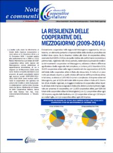 N. 35 – LA RESILIENZA DELLE COOPERATIVE NEL MEZZOGIORNO (2009-2014)