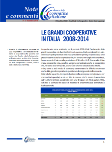 N. 37 – LE GRANDI COOPERATIVE IN ITALIA 2008-2014