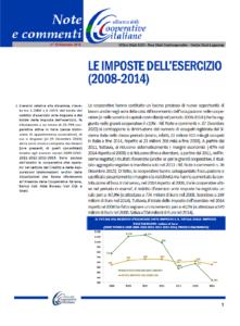 N. 38 – LE IMPOSTE DELL'ESERCIZIO  (2008-2014)
