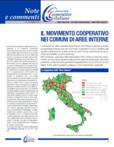 N.19 IL MOVIMENTO COOPERATIVO NEI COMUNI DI AREE INTERNE – LUGLIO 2014