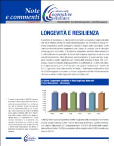 N.20 LONGEVITÀ E RESILIENZA – AGOSTO 2014