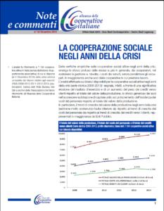 N.24 LA COOPERAZIONE SOCIALE NEGLI ANNI DELLA CRISI – DICEMBRE 2014