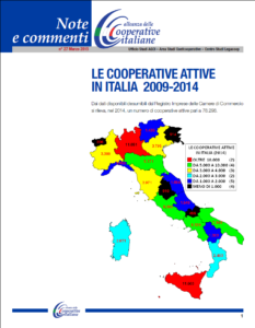 N.27 – LE COOPERATIVE ATTIVE IN ITALIA 2009-2014 – MARZO 2015