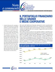 N.28 – IL PORTAFOGLIO FINANZIARIO NELLE GRANDI E MEDIE COOPERATIVE – MARZO 2015