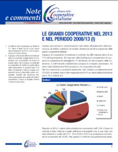 N.22 LE GRANDI COOPERATIVE NEL 2013 E NEL PERIODO 2008/13 (I) – NOVEMBRE 2014