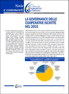 N, 42 – LA GOVERNANCE DELLE COOPERATIVE ISCRITTE NEL 2015