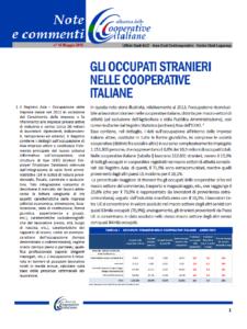 N.44 – GLI OCCUPATI STRANIERI NELLE COOPERATIVE ITALIANE