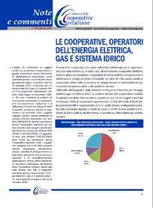 N. 39 – LE COOPERATIVE, OPERATORI DELL'ENERGIA ELETTRICA, GAS E SISTEMA IDRICO