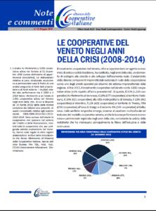 N. 43 – LE COOPERATIVE DEL VENETO NEGLI ANNI DELLA CRISI (2008-2014)