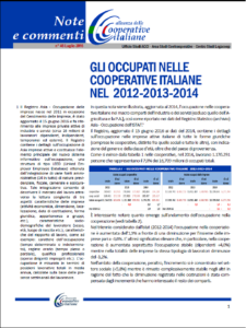 N. 46 – GLI OCCUPATI NELLE COOPERATIVE ITALIANE NEL 2012-2013-2014