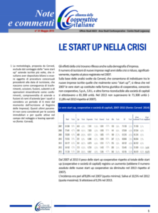 N.31 – Le start up nella crisi –  Maggio 2015