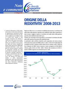 N.32 – ORIGINE DELLA REDDITIVITÀ 2008-2013 – MAGGIO 2015