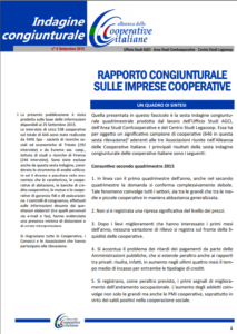 N.6 – Rapporto Congiunturale sulle Imprese Cooperative – SETTEMBRE 2015
