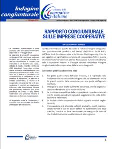 N.8 – RAPPORTO CONGIUNTURALE SULLE IMPRESE COOPERATIVE – MAGGIO 2016