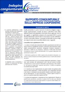 N. 10 – RAPPORTO CONGIUNTURALE SULLE IMPRESE COOPERATIVE – GENNAIO 2017
