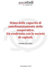 Stima delle capacità di autofinanziamento delle cooperative. Periodo 2012-2016