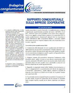 N. 14 – RAPPORTO CONGIUNTURALE SULLE IMPRESE COOPERATIVE MAGGIO 2018