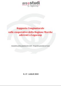 RAPPORTO CONGIUNTURALE SULLE IMPRESE COOPERATIVE LEGACOOP MARCHE – LUGLIO 2019
