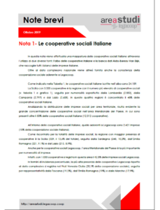 Note brevi – Le cooperative sociali italiane – ottobre 2019