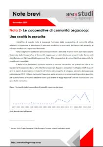 Note brevi – Le cooperative di comunità Legacoop: Una realtà in crescita – novembre 2019