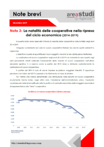 Note brevi – La natalità delle cooperative nella ripresa del ciclo economico (2014-2019) – dicembre 2019