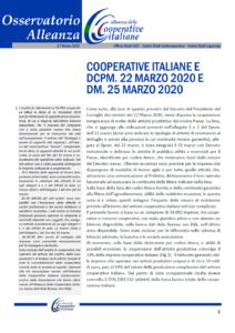 Osservatorio Alleanza – Emergenza COVID-19: Cooperative italiane e dpcm. 22 marzo 2020 e dm. 25 marzo 2020
