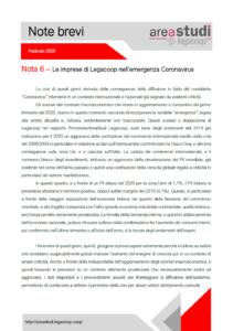 Note brevi – Le imprese di Legacoop nell'emergenza Coronavirus
