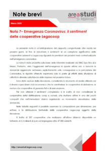 Note brevi – Emergenza Coronavirus: il sentiment delle cooperative Legacoop