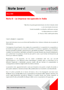 Note brevi – Le imprese recuperate in Italia