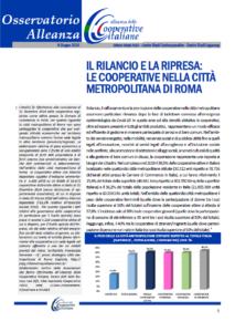 Osservatorio Alleanza: Il rilancio e la ripresa: le cooperative nella città metropolitana di Roma
