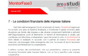Monitorfase3 «Le condizioni finanziarie delle imprese italiane con un focus sulle imprese cooperative» Commento