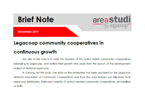 Legacoop community cooperatives in continuous growth